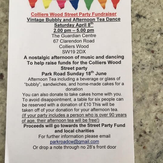 Colliers Wood Street Party Fundraiser